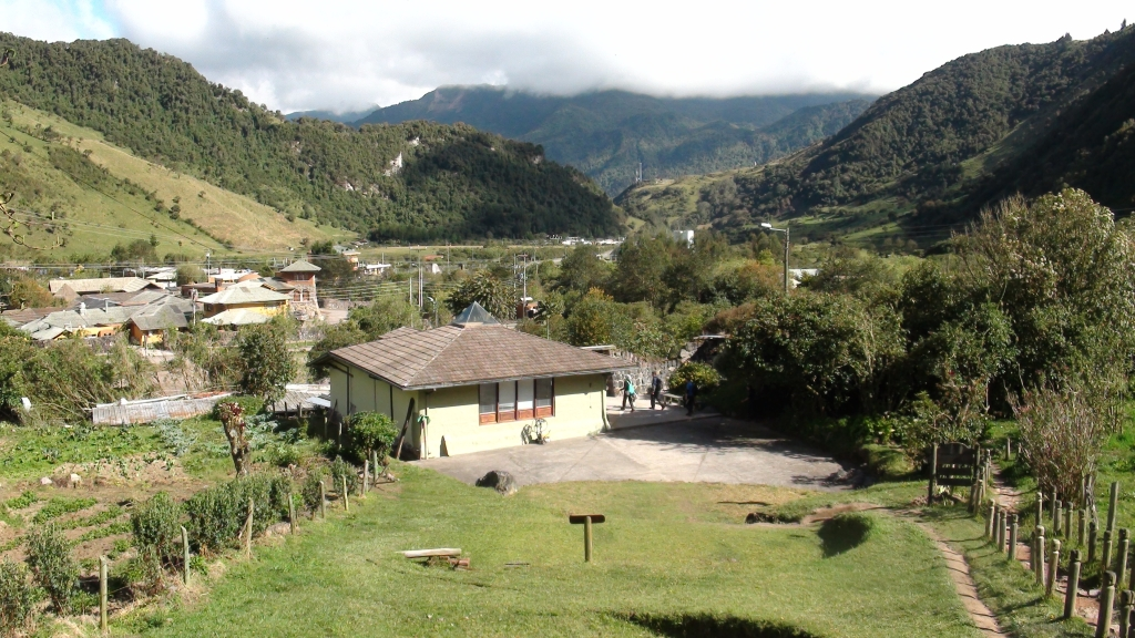 Fieldwork in 2012 near Papallacta (Ecuador).