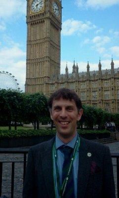 PCRGs William Gosing at the Houses of Parliament