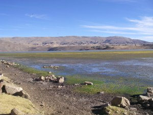 Water resources in the Vacas region (near Cochabamba, Bolivia) deminished around the time of the founding of the urban centre at Tiawanaku