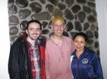 Nick and Will with Carman (director of the Pindo Mirador biological station)