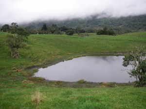 Lake Huila not in the mist