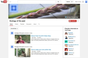 """""""Ecology of the past"""" YouTube channel launched"""