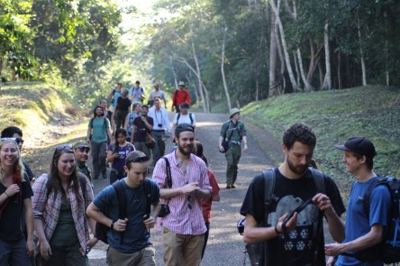 On our way to see the Mayan ruins at Xunantunich (Photograph by Anna Turbelin)