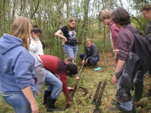BSc students on the Palaeoecology course prior to undertaking a research project with us.