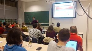 Me teaching human impacts on environmental change...