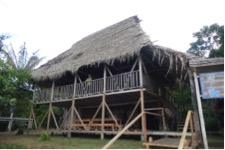 The lodge at Zancudococha. Photo: M. Bush.
